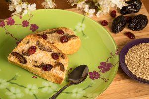 Gâteau de quinoa aux pruneaux