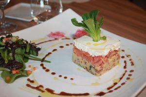 Quinoa au saumon et mousse d'amande