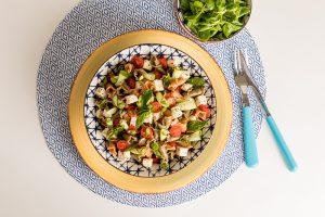 Salade de pâtes Gigli tomate basilic