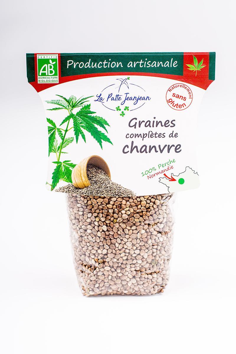 Graines complètes de chanvre du Perche - La Patte Jeanjean