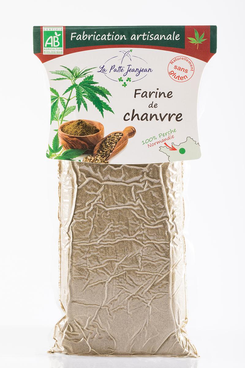 Farine de chanvre produite par La Patte Jeanjean